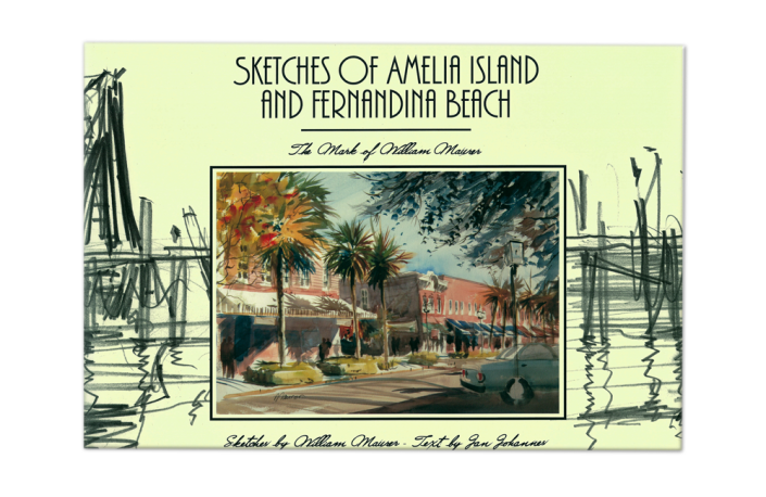 Sketches of Amelia Island and Fernandina Beach- Coffee table book